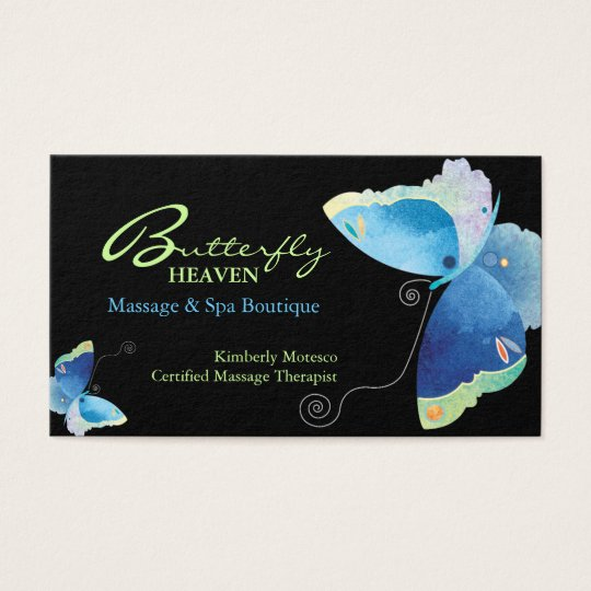 Blue Butterfly Massage Therapy Appointment Cards