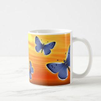 Blue Butterfly Coffee Mugs