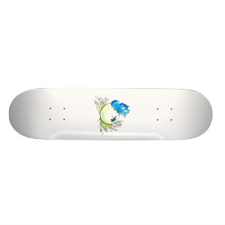blue butterfly on white egg.png skateboard deck