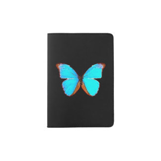 """Blue Butterfly"" Passport Holder"