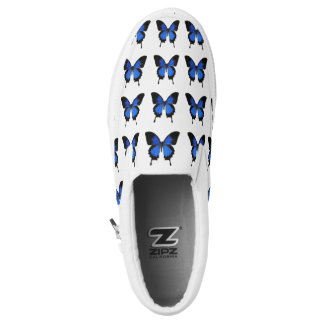 Blue Butterfly Pattern Shoes
