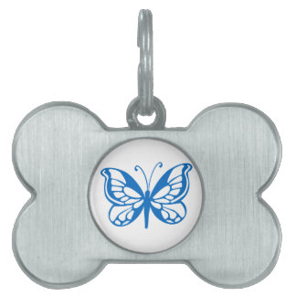 Blue Butterfly Pet Tag