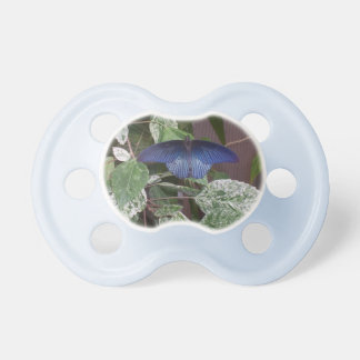 Blue Butterfly Photo Baby Pacifier