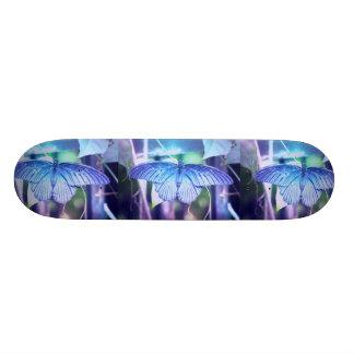 Blue Butterfly Photo Skateboard