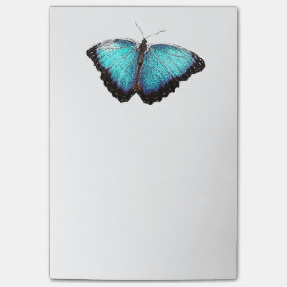 Blue Butterfly Photograph Sketch Post-it® Notes