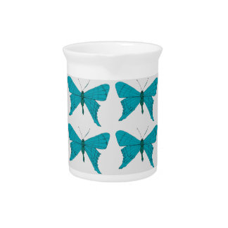 Blue butterfly pitcher