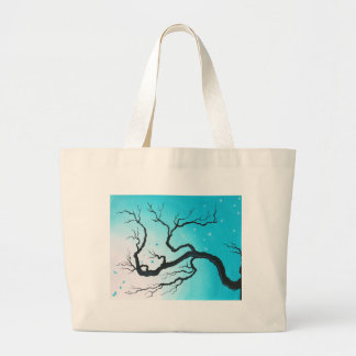 Blue Butterfly product Large Tote Bag