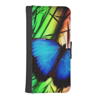 Blue Butterfly Rainbow Phone Wallet Cases