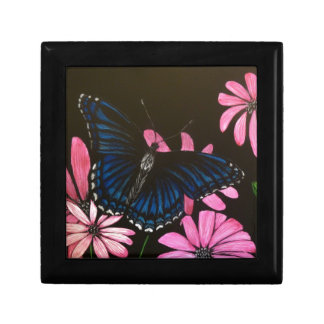 Blue Butterfly Small Square Gift Box