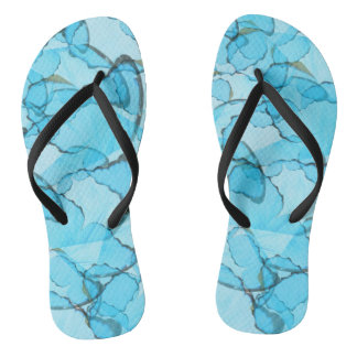 Blue Butterfly Summer Flip-Flops Flip Flops