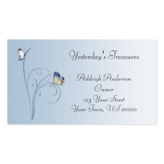 Blue Butterfly Swirls Business Card