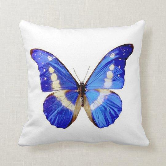 Blue Butterfly - Throw Pillow