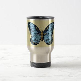 Blue Butterfly Travel Mug
