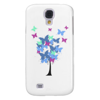 Blue Butterfly Tree Samsung Galaxy S4 Covers