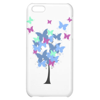 Blue Butterfly Tree Cover For iPhone 5C