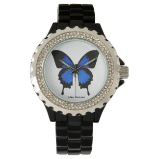 Blue Butterfly Watch