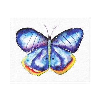 Blue Butterfly Watercolor Art Single Canvas