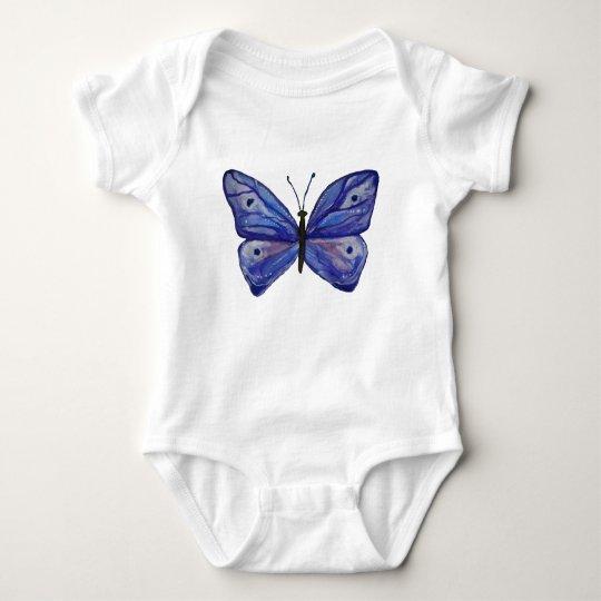Blue Butterfly Watercolor Baby Jersey Bodysuit