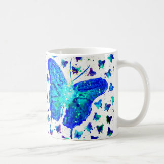 Blue Butterfly Watercolor Mug