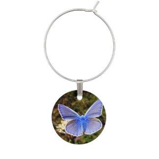 Blue Butterfly Wine Charm