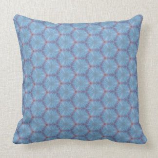 Blue Butterfly Wing Caleidoscopic Design Pillow