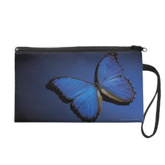 Blue butterfly wristlet