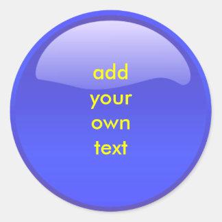 blue button stickers