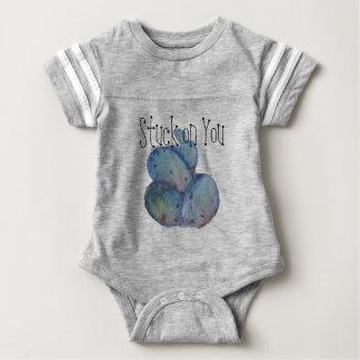 Blue cactus baby bodysuit