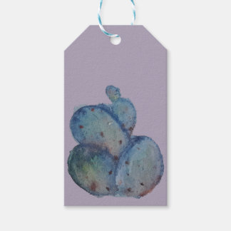 Blue cactus gift tags