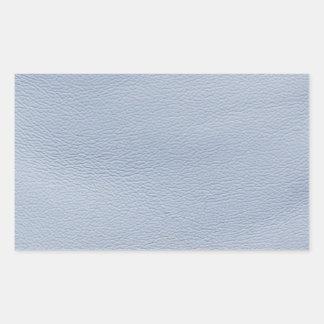 Blue Caddy Look-Like Leather Rectangular Sticker