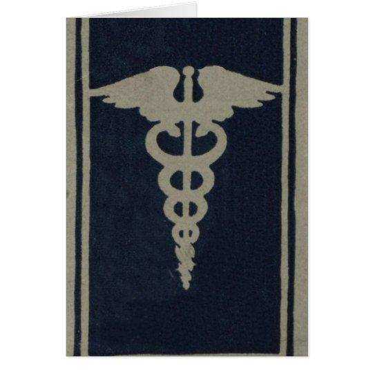 Blue Caduceus Card