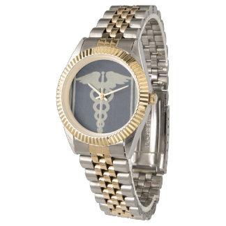 Blue Caduceus Wristwatch