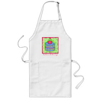 Blue Cake Rose Apron Business Personalized