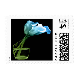 Blue Calla Lily Wedding Postage Stamp