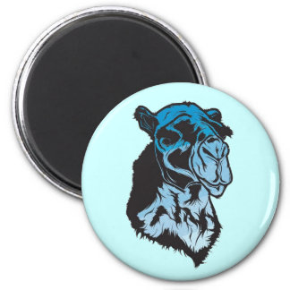 Blue Camel Magnent 6 Cm Round Magnet