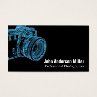 Blue Camera X-Ray Photographer Business Cards