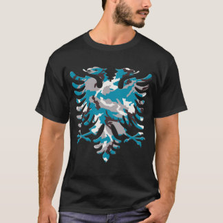 Blue Camo Albanian Eagle 3D T-Shirt