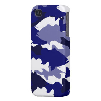 Blue Camo Bass Fishing Covers For iPhone 4