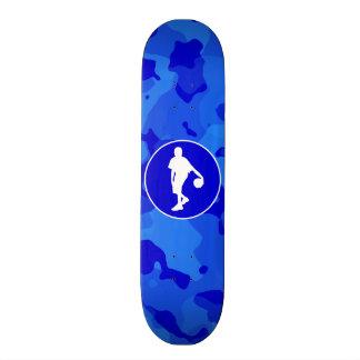 Blue Camo; Camouflage Basketball Skate Deck