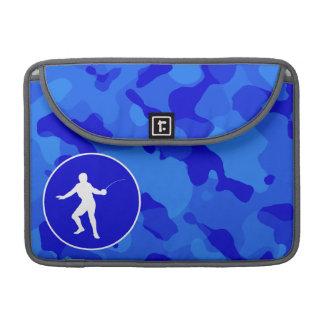 Blue Camo; Camouflage Fencing MacBook Pro Sleeves