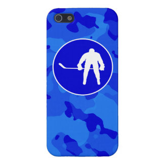 Blue Camo; Camouflage Hockey Case For iPhone 5