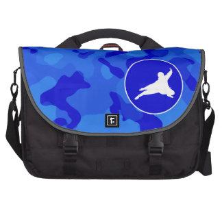Blue Camo Camouflage Ninja Commuter Bags