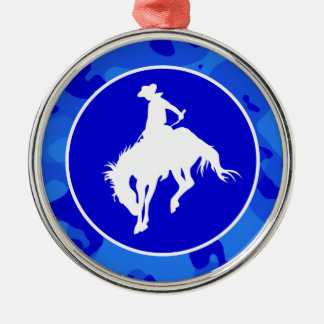 Blue Camo; Camouflage Rodeo Christmas Ornament