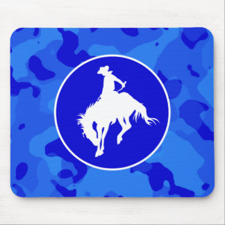 Blue Camo; Camouflage Rodeo Mouse Pad
