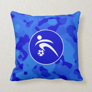 Blue Camo; Camouflage Soccer Cushion