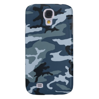 Blue-Camo Galaxy S4 Case