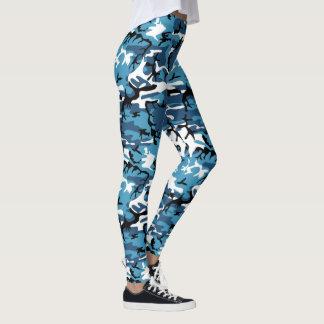 Blue Camo Leggings