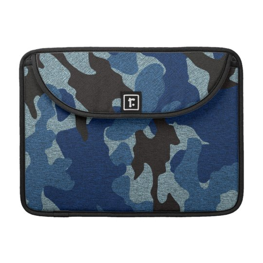 Blue Camo Military 13 Inch Macbook Pro Sleeves