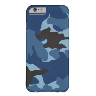 Blue Camo Military Camouflage SlimiPhone 6 6S Barely There iPhone 6 Case