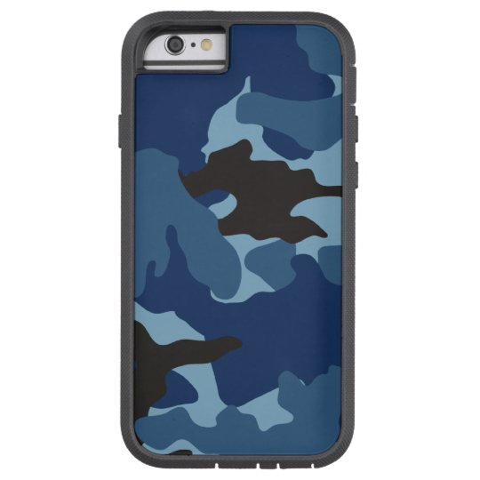 Blue Camo Military Camouflage Xtreme iPhone 6 6S